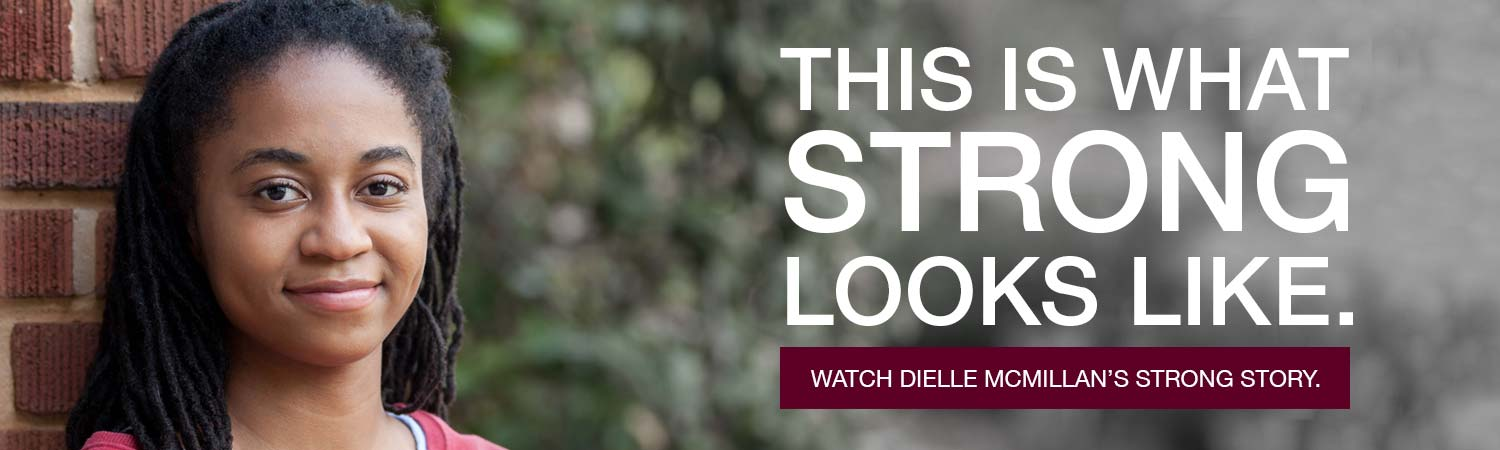 This is what strong looks like. Watch Dielle McMillan's strong story.