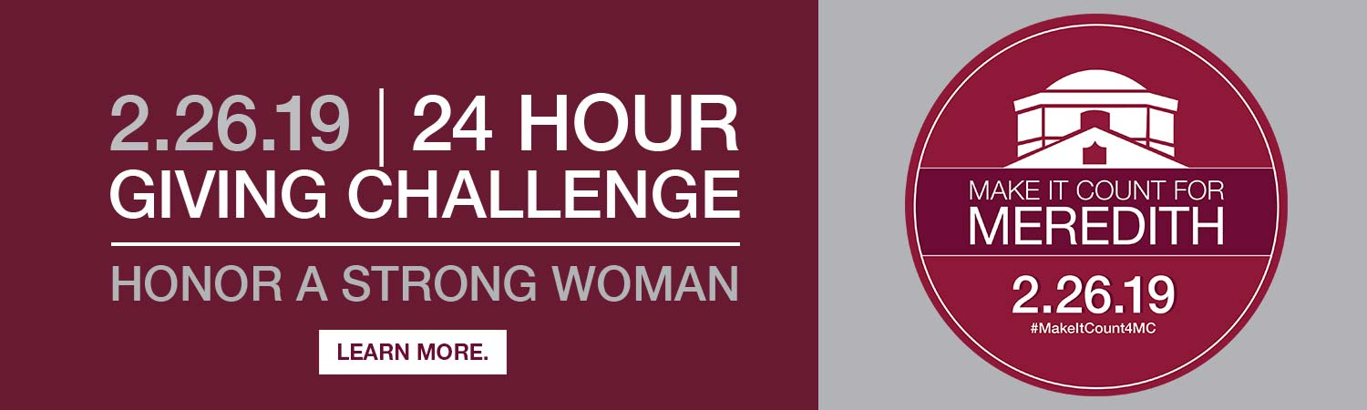 Text that says 24 hour giving challenge. Honor a strong woman. 2-26-19