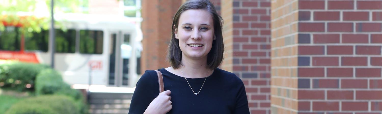 Internships. Communication intern Holly Watkins
