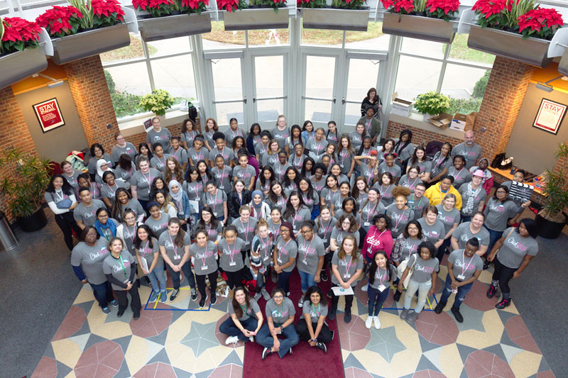 91 high school students who were apart of the Chick Tech program