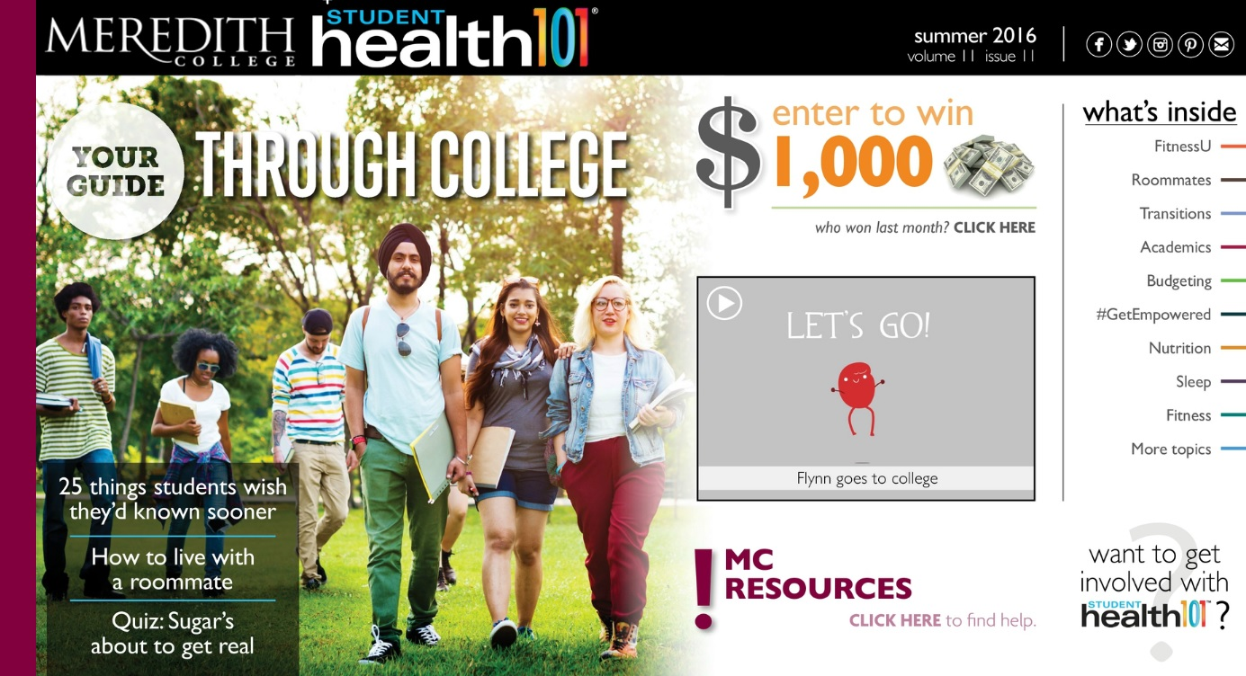 Image of Student Health 101 Magazine