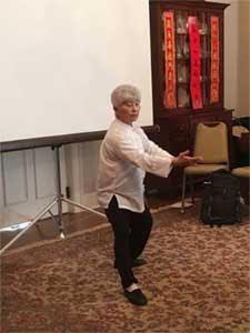 Tai Chi Master Huei-May Su leading a Tai Chi demonstration