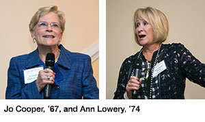 Co-chairs  Josephine Cooper, '67 Ann Lowery, '74