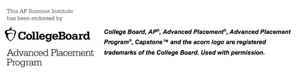 Graphic stating College Board, AP®, Advanced Placement®, Advanced Placement Program®, Capstone™ and the acorn logo are registered trademarks of the College Board. Used with permission.