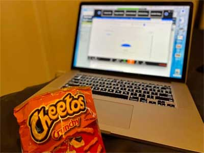 Cheetos and a laptop