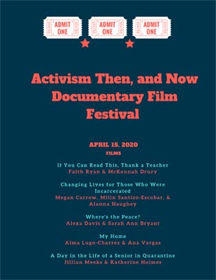 Activism poster for documentary