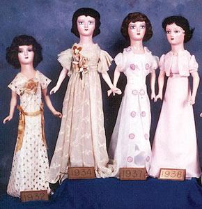 Picture of Dolls-1932, 1934, 1937, and 1938