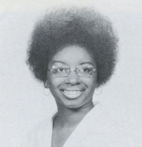 BW Picture of Gwendolyn Matthews, Class of 1971