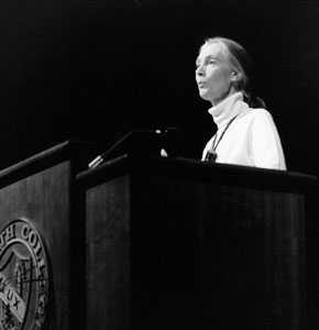 Jane Goodall at podium