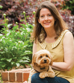 Picture of Cathi Bert-Roussel and her dog