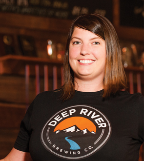 Picture of Lynn Auclair with Deep River t-shirt