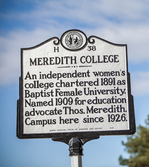 New historical marker at front of campus