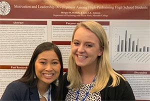 Two Students at State of NC Undergraduate Research & Creativity Symposium