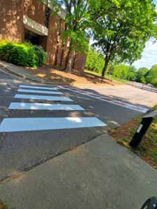 Painted Speed Bumps on Campus