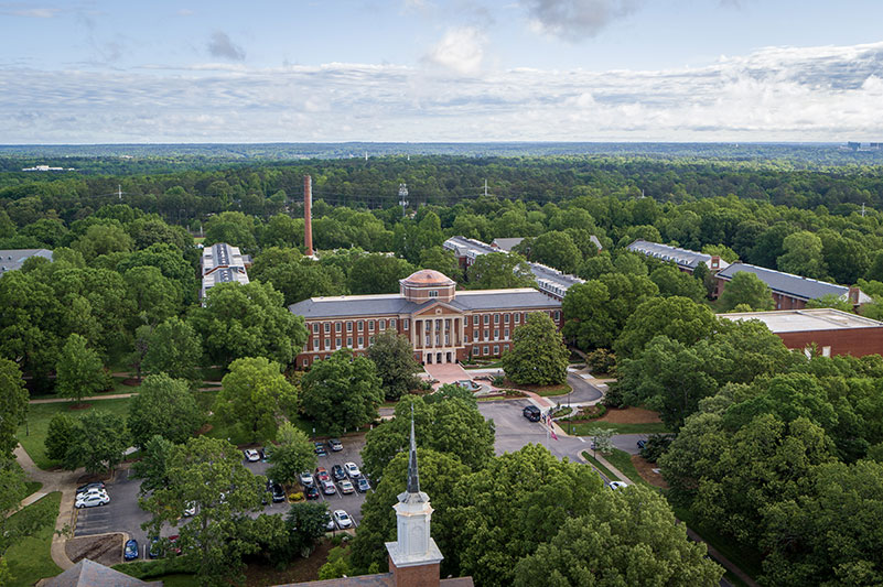 aerial image Meredith College