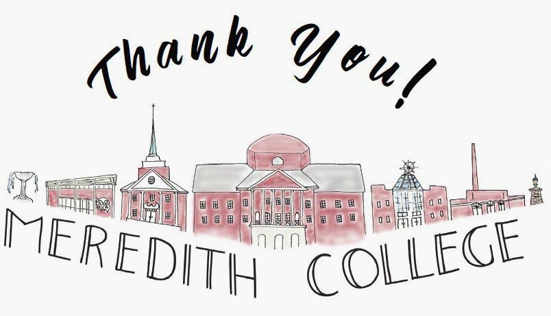 Thank you Meredith College graphic