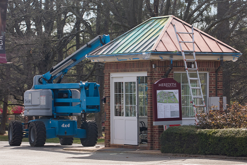Front Guardhouse during renovation