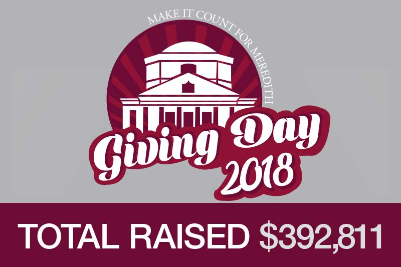 Giving Day Graphic with Total Raised $392,811