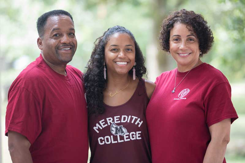Meredith student and parents