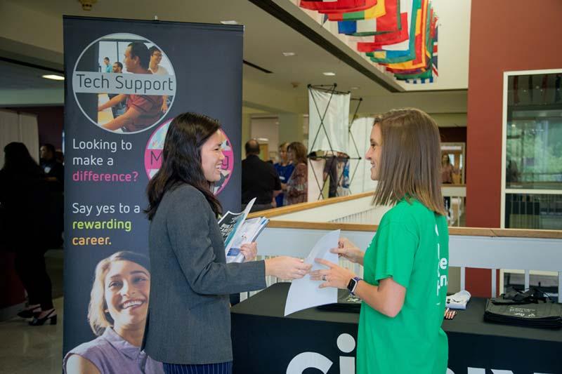 Internship Expo - Students and Adviser