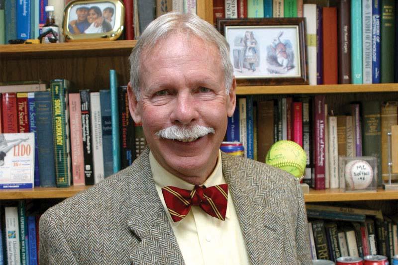Professor of Psychology Jack Huber in his Meredith office