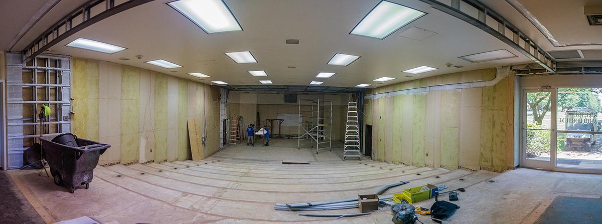 Kresge Auditorium under construction