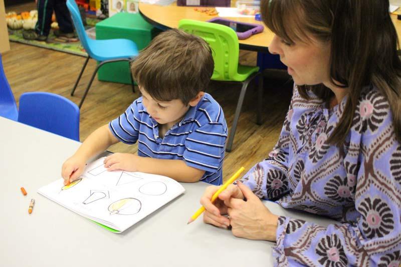 Student and teacher in MAP preschool