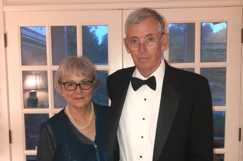 Patricia Poe, pictured with her late husband Charles Aycock Poe, Jr., is pleased to support both Meredith College and Wake Technical Community College.
