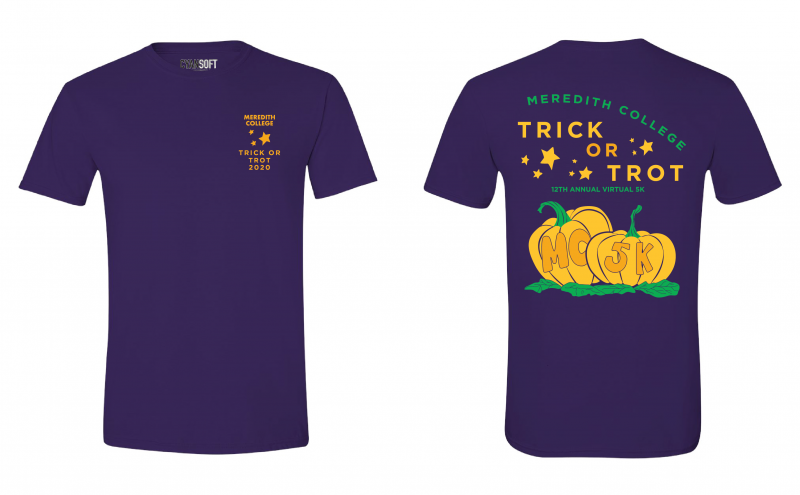 Drawing of 2020 Trick or Trot T-shirt