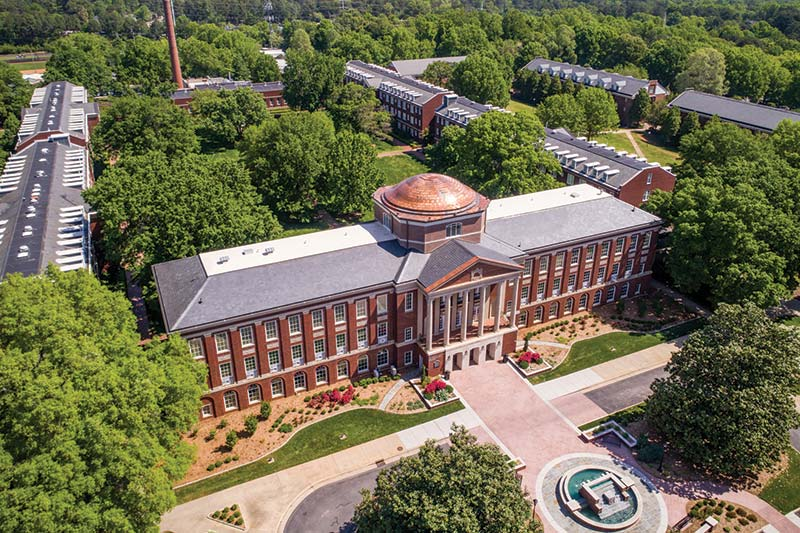 Aerial image of Johnson Hall