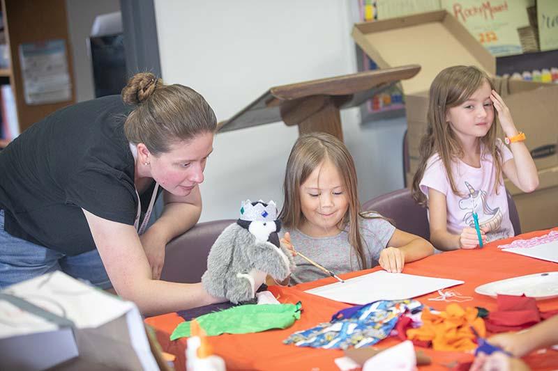 Kids Painting at Art Camp