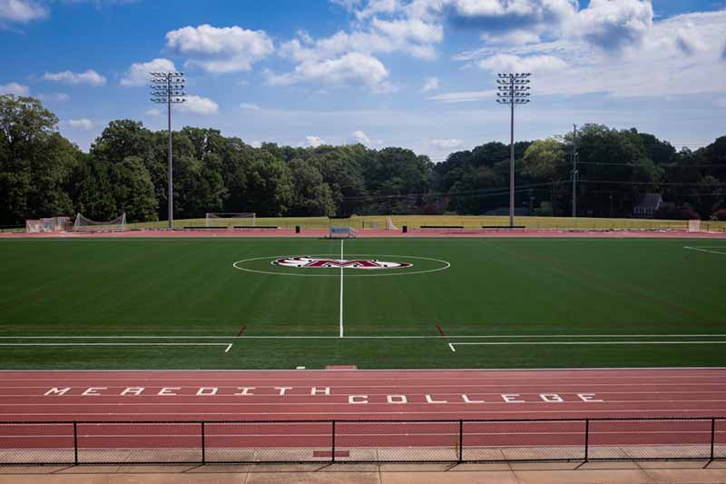 Athletic Field with Logo Finished