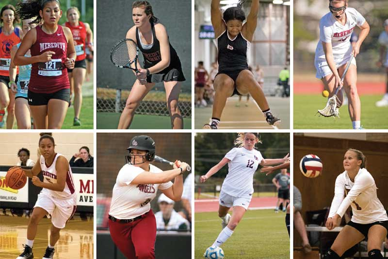Montage of Sports offered at Meredith College