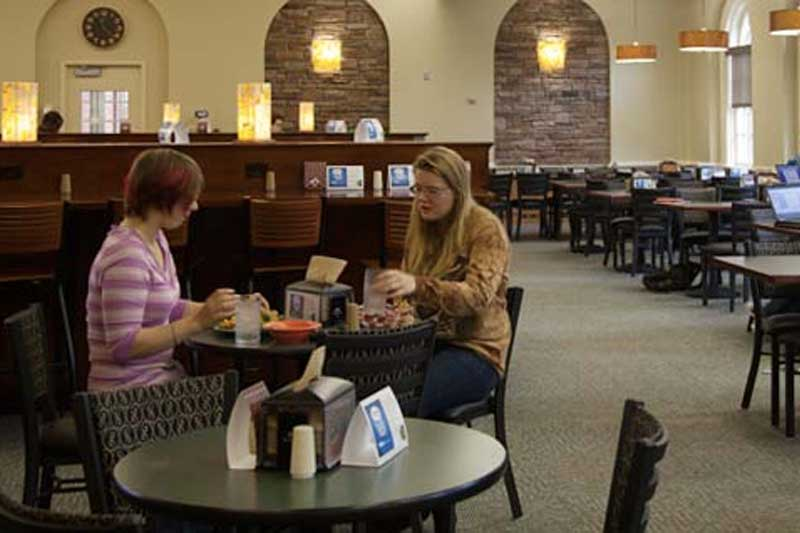 Belk Dining Hall with Students Eating Lunch