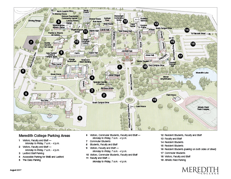 Campus Map Meredith College