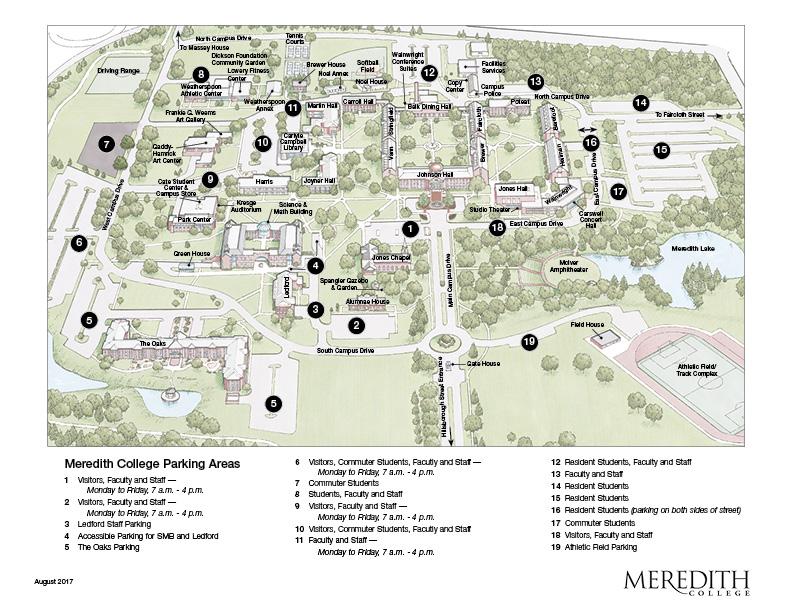 Meredith Campus Map | autobedrijfmaatje