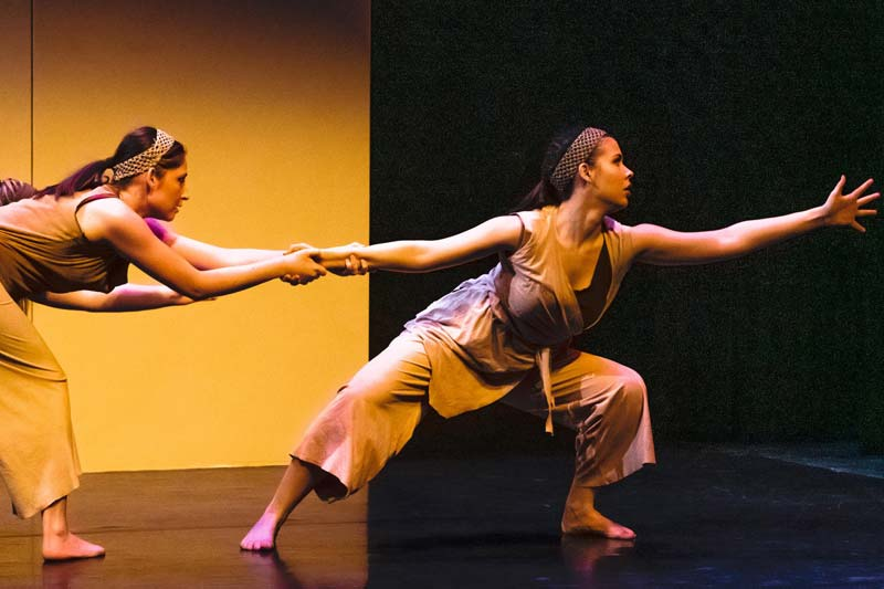 Meredith Dance performance featuring two women dancers