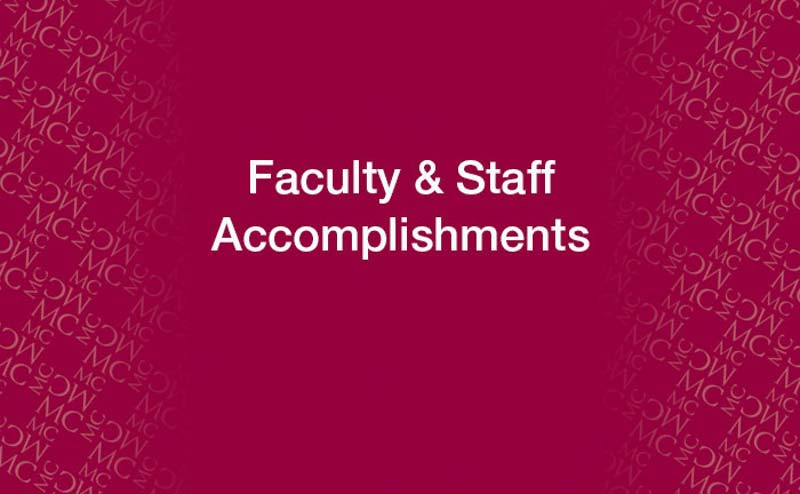 Faculty/Staff Accomplishments Graphic