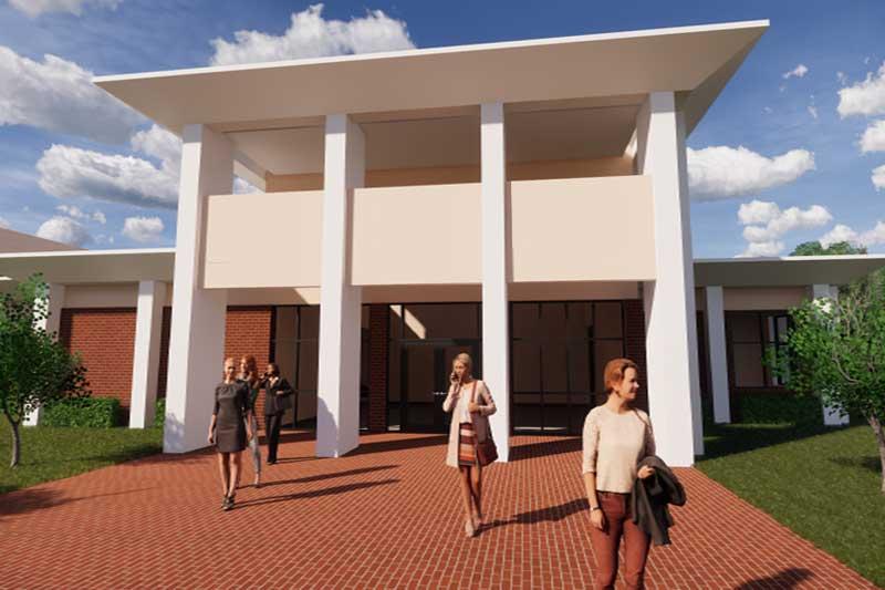 New Comm/ESS Building Entrance