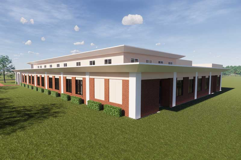 New Comm/ESS Building Rear View