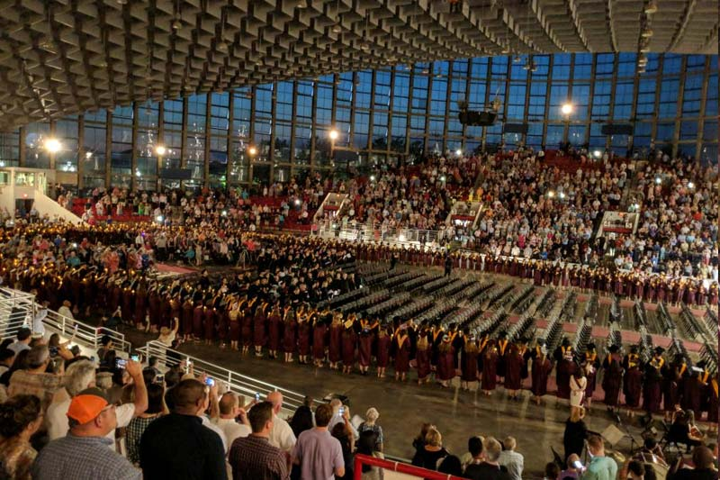 Meredith College Commencement crowd in Dorton Arean