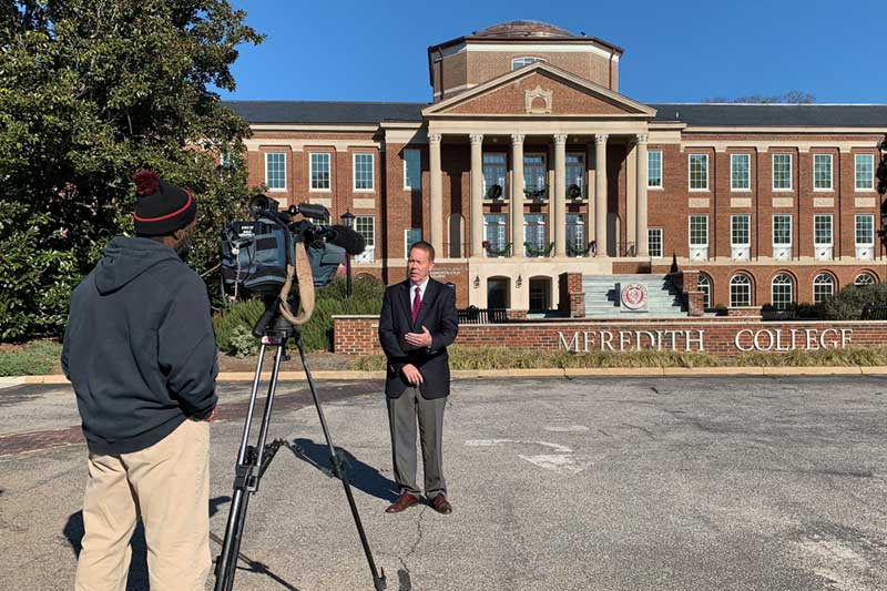 David McLennan Interview in front of Johnson Hall