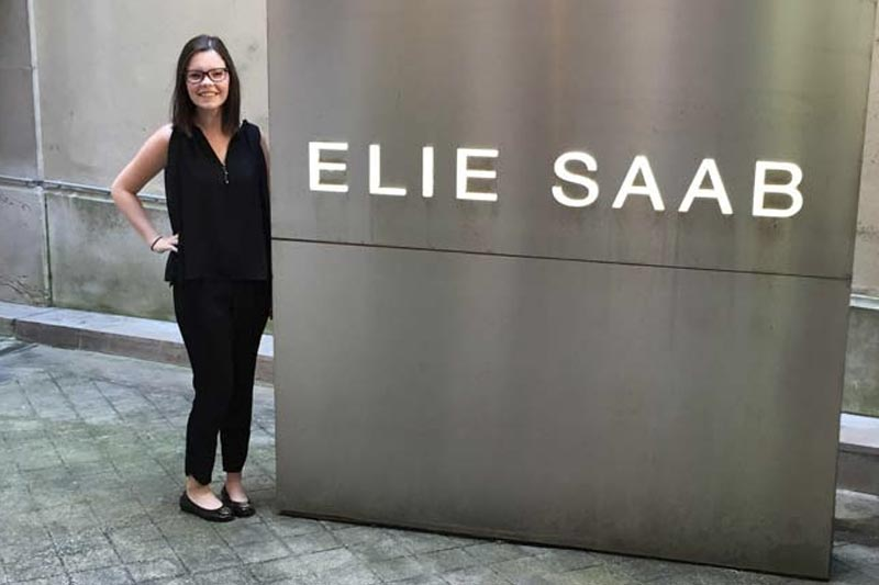 Fashion intern at Elie Saab