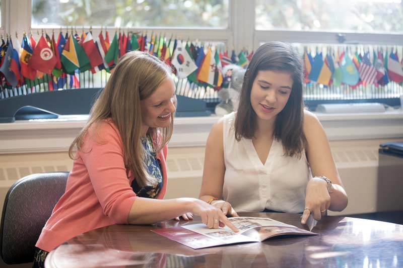 International Programs Advising Student for Study Abroad Trip