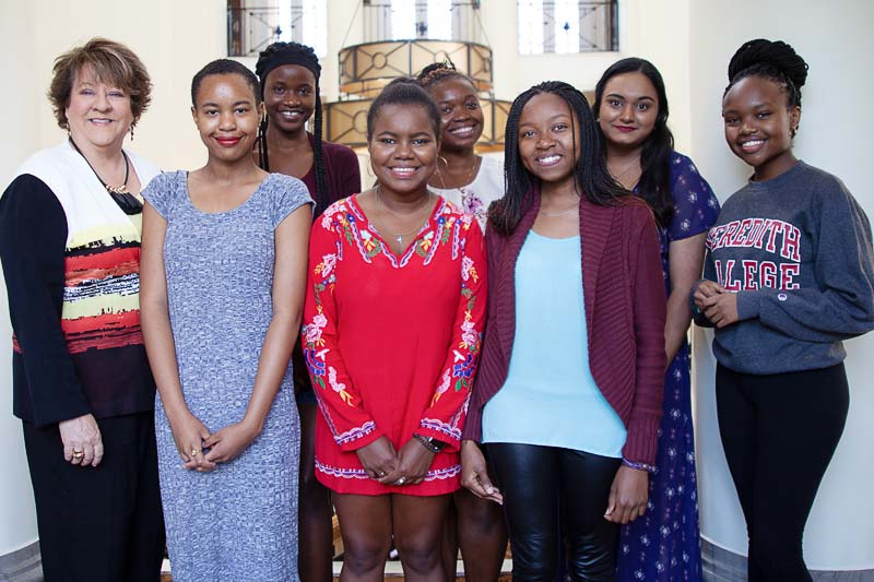 President Jo Allen and International Students