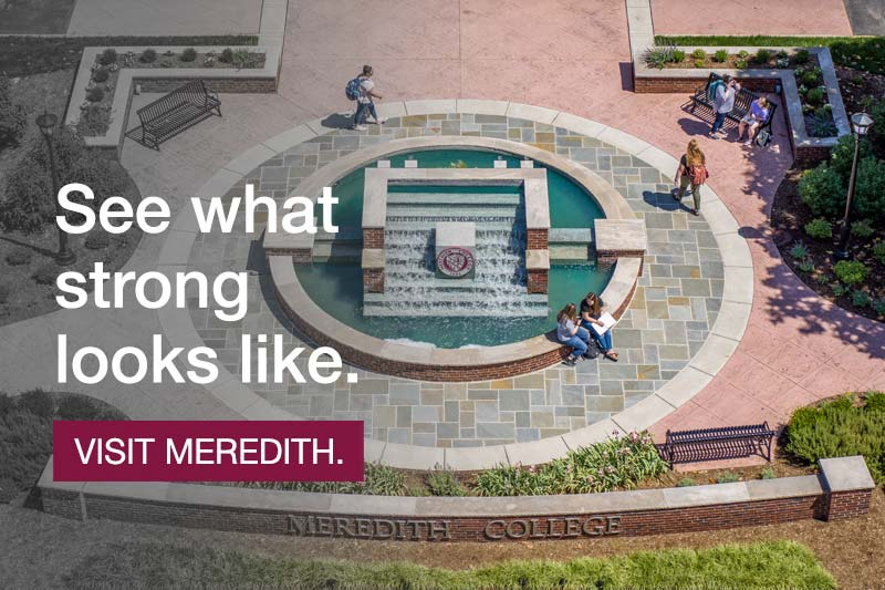 Johnson Hall. See what strong looks like. Visit Meredith.