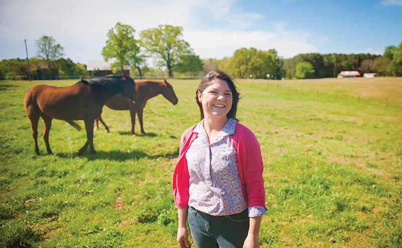 Allison Pappas at Windstar Stables