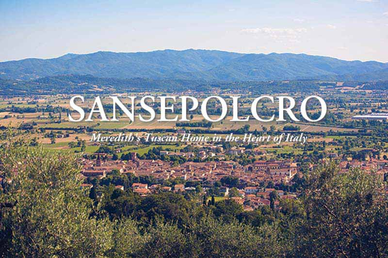 Sansepolcro countryside in the Summer