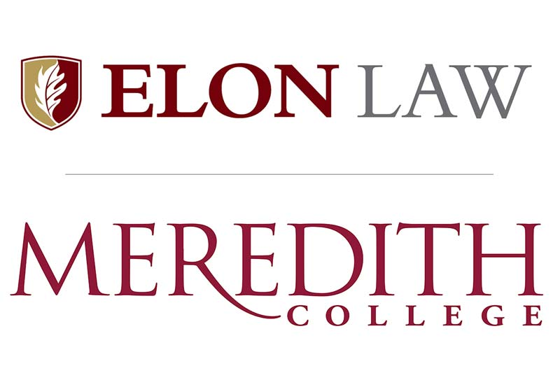 Meredith College and Elon Law Logo