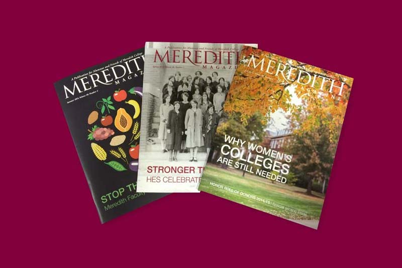 Three Meredith Magazine Issue Covers spread on table
